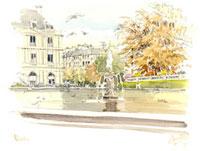 秋のルクサンブール公園 02398000232| 写真素材・ストックフォト・画像・イラスト素材|アマナイメージズ
