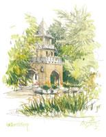 新緑の旧前田侯爵邸