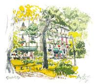 秋の松本楼 02398000293| 写真素材・ストックフォト・画像・イラスト素材|アマナイメージズ