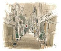 今井町の古い街並み