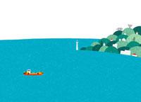 海辺の町と一隻の船