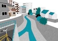 住宅街を流れる川