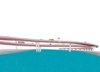 川に架かる高速道路