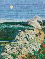 月とススキ 02404000067| 写真素材・ストックフォト・画像・イラスト素材|アマナイメージズ