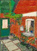 家の玄関と窓 02404000071| 写真素材・ストックフォト・画像・イラスト素材|アマナイメージズ