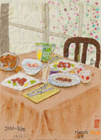 春の献立を並べたテーブル