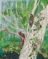 木に止まった鳥