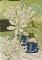 お花とカップ