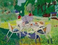 庭でお茶 02404000112| 写真素材・ストックフォト・画像・イラスト素材|アマナイメージズ