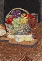 チーズと果物とワイン