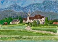 ドイツ ウイーズ教会の道