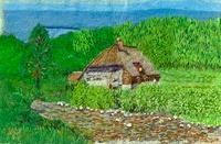 バンガローと草原