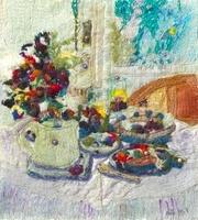 花を飾ったテーブル
