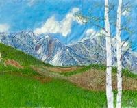 白樺と山 02404000164| 写真素材・ストックフォト・画像・イラスト素材|アマナイメージズ