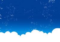 夏の入道雲と青空