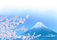 満開の桜と富士山 02411000013| 写真素材・ストックフォト・画像・イラスト素材|アマナイメージズ