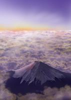 雲海と富士山 02411000053| 写真素材・ストックフォト・画像・イラスト素材|アマナイメージズ
