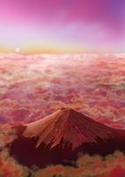 雲海と赤富士 02411000057| 写真素材・ストックフォト・画像・イラスト素材|アマナイメージズ