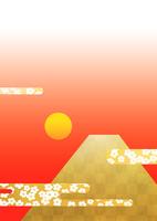 富士山と日の出 02411000085| 写真素材・ストックフォト・画像・イラスト素材|アマナイメージズ
