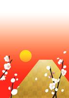 富士山と日の出