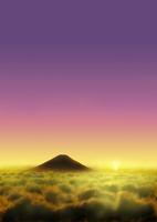 雲海に浮かぶ富士山 02411000094| 写真素材・ストックフォト・画像・イラスト素材|アマナイメージズ