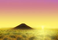 雲海に浮かぶ富士山 02411000095| 写真素材・ストックフォト・画像・イラスト素材|アマナイメージズ