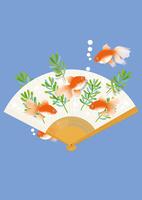 静物_扇子と金魚 02412000051  写真素材・ストックフォト・画像・イラスト素材 アマナイメージズ