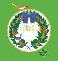静物_クリスマスプレートと小鳥 02412000080  写真素材・ストックフォト・画像・イラスト素材 アマナイメージズ