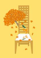 静物_マッキントッシュの椅子と紅葉