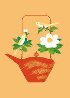 静物_屠蘇器と山茶花