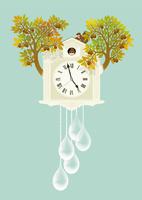 静物_鳩時計とリス 02412000106| 写真素材・ストックフォト・画像・イラスト素材|アマナイメージズ