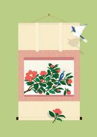静物_椿の掛け軸 02412000108| 写真素材・ストックフォト・画像・イラスト素材|アマナイメージズ