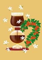 静物_コーヒーサイフォンとコーヒー豆 02412000114| 写真素材・ストックフォト・画像・イラスト素材|アマナイメージズ