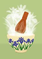 静物_カキツバタの茶碗と茶筅 02412000129| 写真素材・ストックフォト・画像・イラスト素材|アマナイメージズ