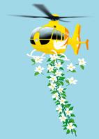 静物_ヘリコプターと花