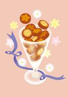 静物_チョコレートトフィとグラス
