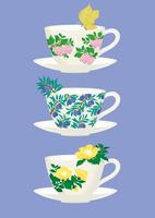 静物_ティーカップと花