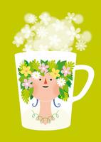 花のマグカップ 02412000187| 写真素材・ストックフォト・画像・イラスト素材|アマナイメージズ