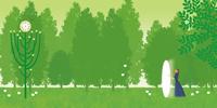 風景_森の中の光の扉 02412000215| 写真素材・ストックフォト・画像・イラスト素材|アマナイメージズ