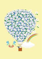 花の熱気球