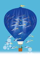 熱気球の水族館