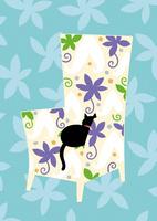ソフアと黒猫 02412000253| 写真素材・ストックフォト・画像・イラスト素材|アマナイメージズ