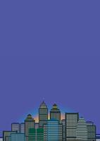 夜明けの高層ビル
