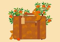 ボストンバッグと木の実とリス 02412000300| 写真素材・ストックフォト・画像・イラスト素材|アマナイメージズ