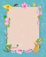 春の花のフレーム 02413000003| 写真素材・ストックフォト・画像・イラスト素材|アマナイメージズ