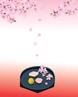 桃の花と節句の和菓子
