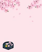 桃の花と節句の和菓子 02413000005| 写真素材・ストックフォト・画像・イラスト素材|アマナイメージズ