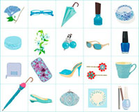青い小物 02413000036| 写真素材・ストックフォト・画像・イラスト素材|アマナイメージズ