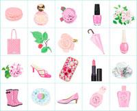 ピンクの小物