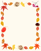 秋の実と紅葉フレーム